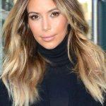 Kim Kardashian τεχνική Ombre για μαλλιά