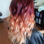 τεχνική Ombre για μαλλιά Red-Ombre
