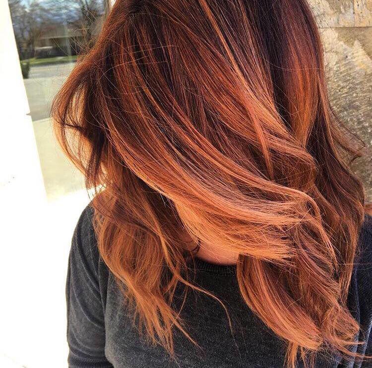 amber balayage- τάσεις μαλλιά 2019